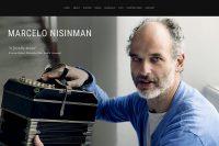 web del bandoneonista y compositor Marcelo nisinman realizada por lavueltaweb.com