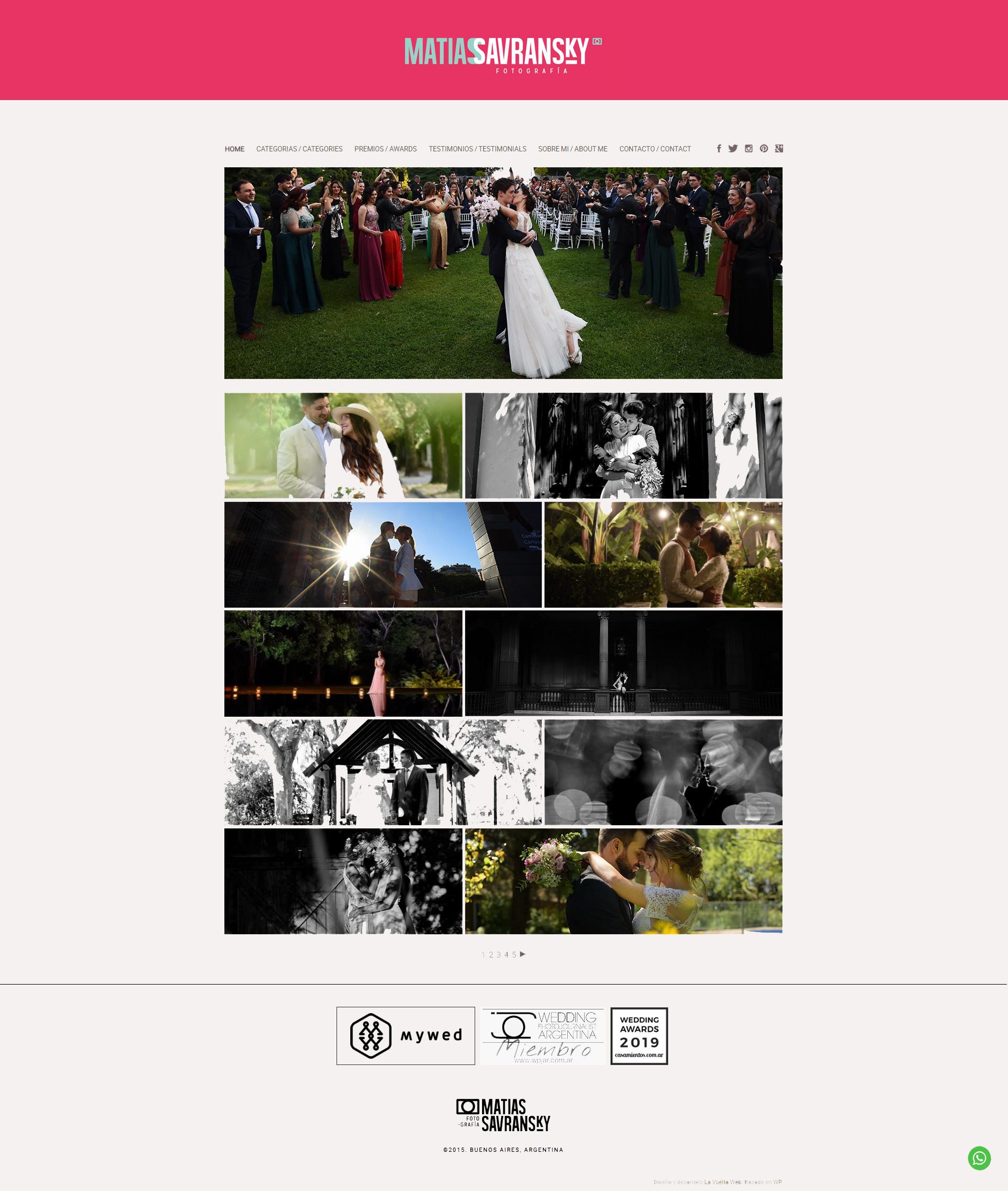 Website de Matías Savransky Fotografía. Diseño y desarrollo de la web por La Vuelta Web