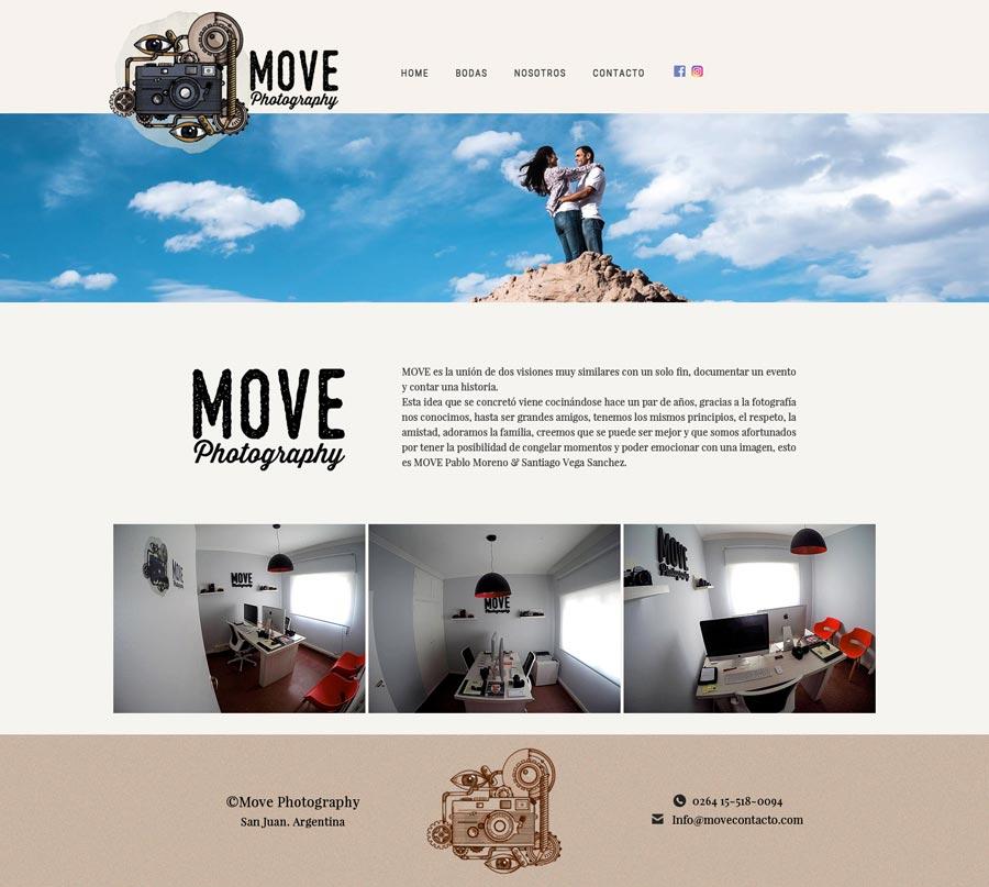 Move Photography Estudio, sitio web de fotógrafos diseño y desarrollo La Vuelta Web