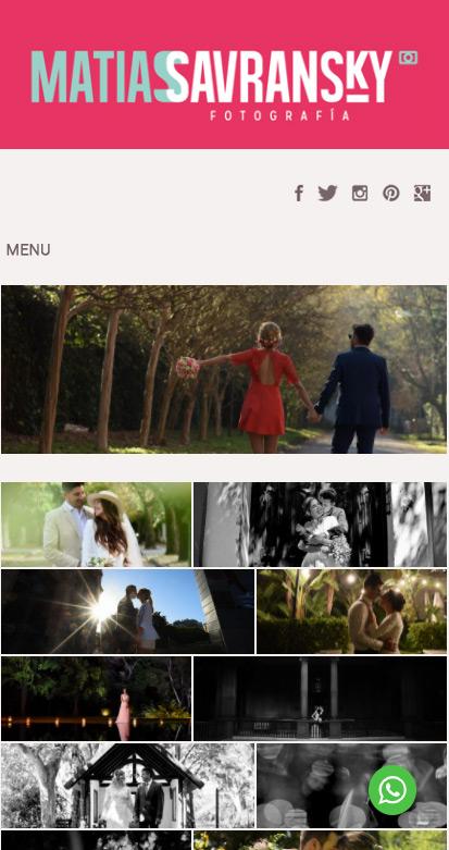 web responsive design del fotógrafo Matías Savransky, diseñado y desarrollado por La Vuelta Web
